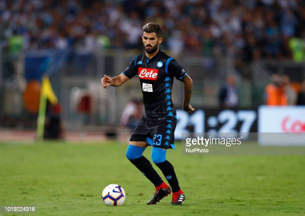 SS Lazio v SSC Napoli Serie A Elsed Hysaj of Napoli at Olimpico Stadium in Rome Italy on August 18 2018