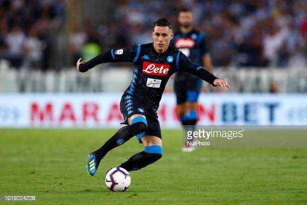 SS Lazio v SSC Napoli Serie A Jose Maria Callejon of Napoli at Olimpico Stadium in Rome Italy on August 18 2018