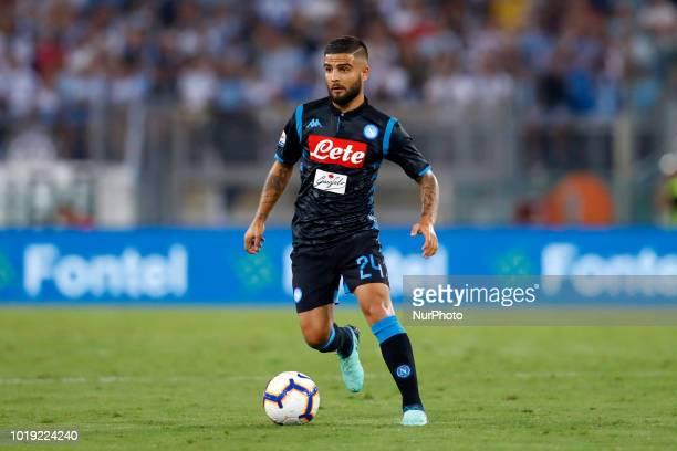 SS Lazio v SSC Napoli Serie A Lorenzo Insigne of Napoli at Olimpico Stadium in Rome Italy on August 18 2018