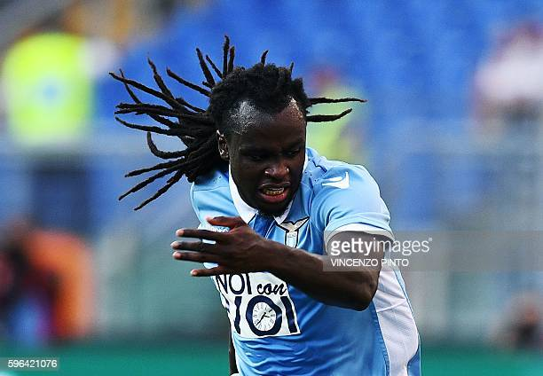Lazio's defender from Belgium Jordan Lukaku looks down during the Serie A football match Lazio vs Juventus at Olympic stadium in Rome on August 27...