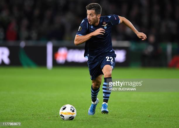 Lazio's Spanish midfielder Jony runs with the ball during the UEFA Europa League group E football match between Celtic and Lazio at Celtic Park...