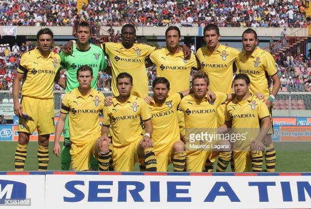 Lazio's team pose for photo before the Serie A match between Catania Calcio and SS Lazio at Stadio Angelo Massimino on September 20, 2009 in Catania,...