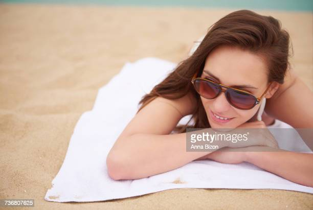 lazy day on the beach. gdansk, poland - lazy poland stock photos and pictures