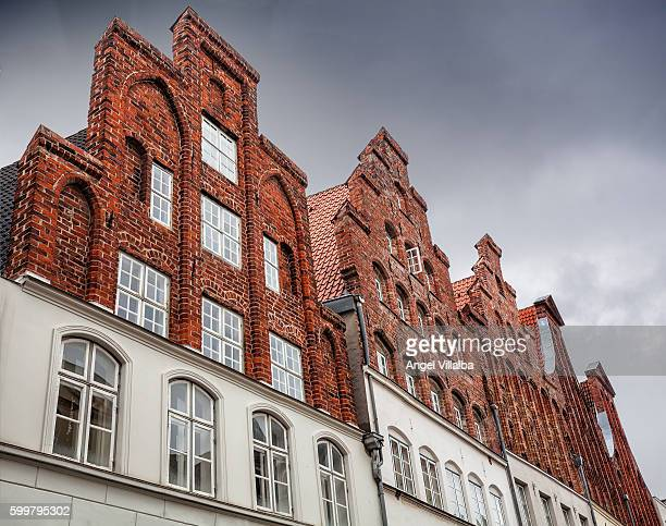 Lübeck. Red brick facades