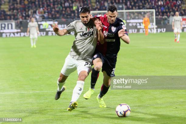 Lca Cigarini of Cagliari in action during the Serie A match between Cagliari and Juventus at Sardegna Arena on April 2, 2019 in Cagliari, Italy.