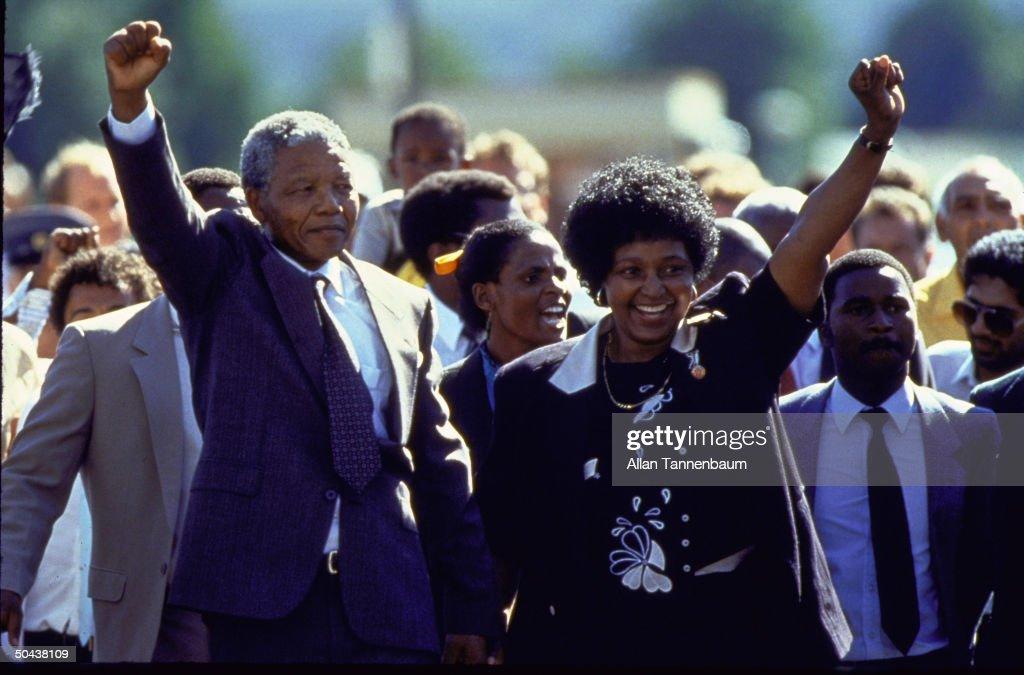 Winnie Mandela;Nelson R. Mandela : News Photo