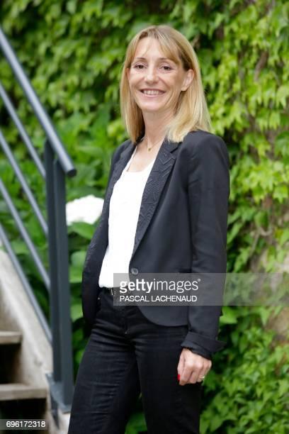 le 14 juin 2017 limoges sophie beaudouinhubière candidate lrem sur la 1 ere circonscription de la haute vienne AFP PHOTO PASCAL LACHENAUD / AFP PHOTO...