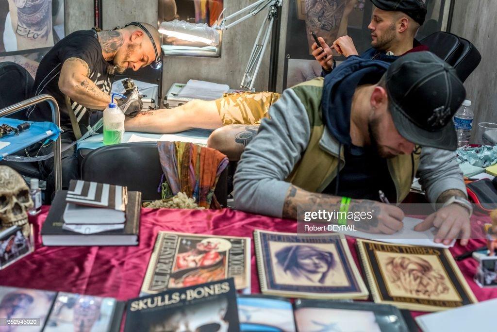 Le 18eme Salon Du Tatouage Reunissant 180 Tatoueurs Le 7 Fevrier 2015 News Photo Getty Images