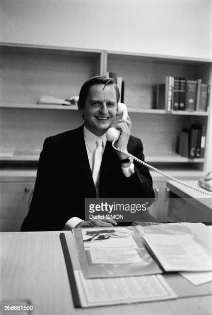 Le 1er ministre suédois Olof Palme à Stockholm en septembre 1973 Suède