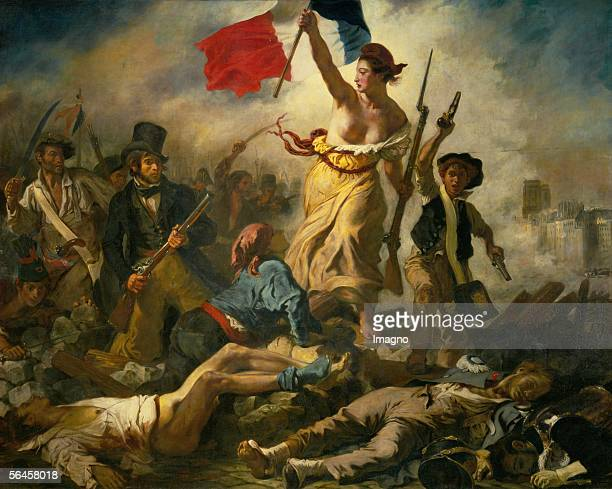 Le 28 Juillet la Liberte guidant le peuple July 28th 1830 Liberty guides the people Oil on canvas 260 x 325 cm RF 129 [Le 28 Juillet la Liberte...