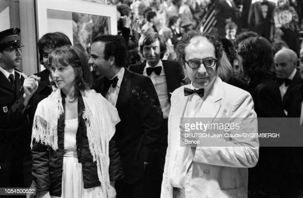 Le 33ème Festival de Cannes se déroule du 9 au 23 mai 1980 Nathalie BAYE actrice française et JeanLuc GODARD réalisateur francosuisse venu présenter...