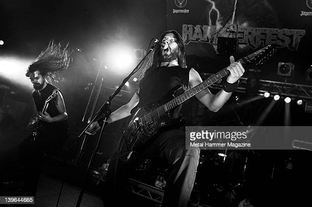 Le Bail and Clement Flandrois from Svart Crown live on stage at Hammerfest 2011 Prestatyn March 19 2011