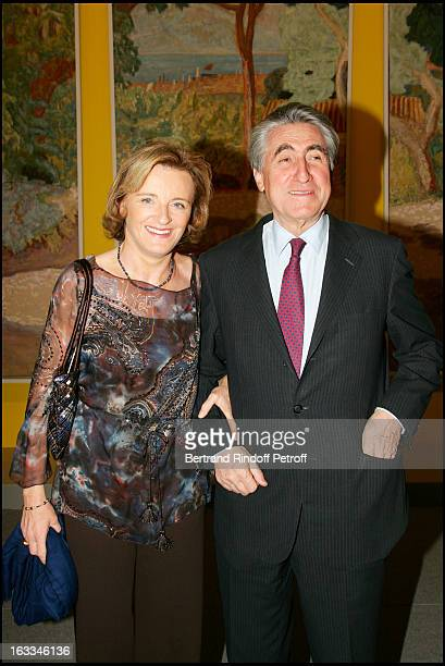Le Baron Ernest Antoine Seilliere and wife Antoinette at the Preview Of The Exhibition Pierre Bonnard L'Oeuvre D'Art Un Arret Du Temps At Musee D'Art...