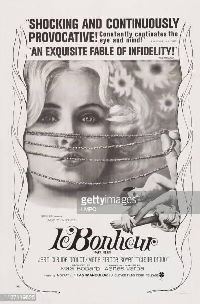 Le Bonheur poster US poster art from left MarieFrance Boyer JeanClaude Drouot Claire Drouot 1965