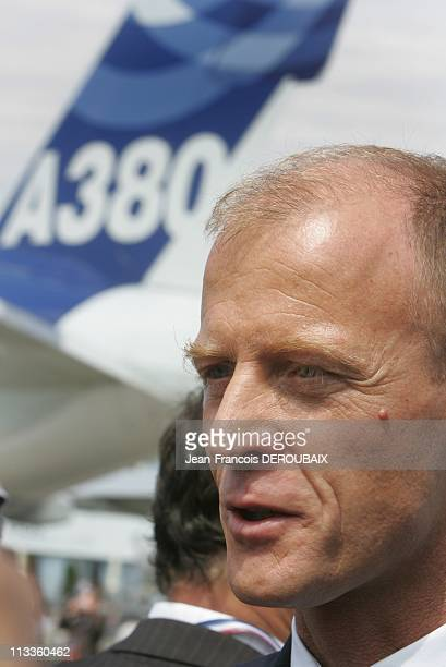 Le Bourget Airshow In Paris France On June 19 2007 Joint press conference between Northrop Grumman and EADS about the A330 MRTT at Le Bourget Paris...