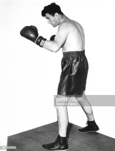 Le boxeur américain Jimmy Braddock s'entraîne le 8 juin 1937 à Golfmore MI