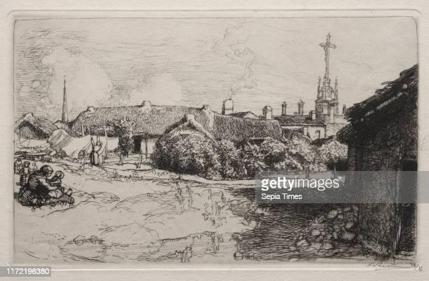 Le Calvaire, St. Jean-de-Mont, 1909. Auguste Louis Lepere . Etching.