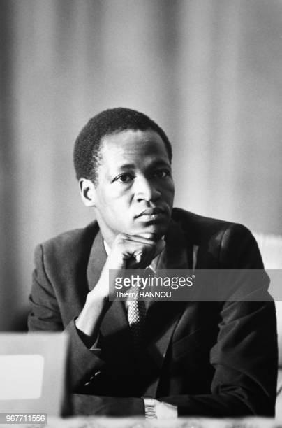 Le capitaine Blaise Campaoré du Burkina Faso lors de la réunion des huit pays du comité inter-états de lutte contre la sécheresse le 24 janvier 1984...