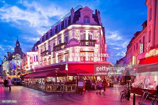 le central brasserie restaurant - trouville sur mer stock pictures, royalty-free photos & images