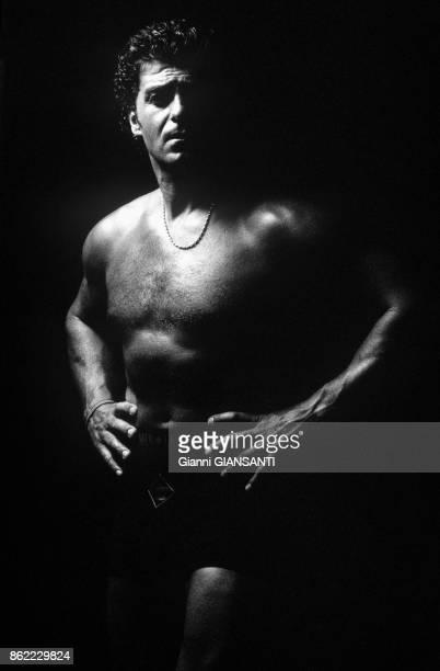Le champion de ski italien Alberto Tomba à Milan le 3 septembre 1997 Italie