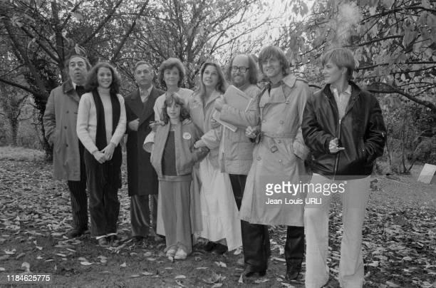 Le chanteur Dave pendant le tournage du film 'L'Esprit de famille' rélisé par JeanPierre Blanc à Paris le 3 novembre 1978 France