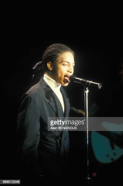 Le chanteur et musicien Terence Trent d'Arby en concert à la Cigale le 1er octobre 1987 à Paris France