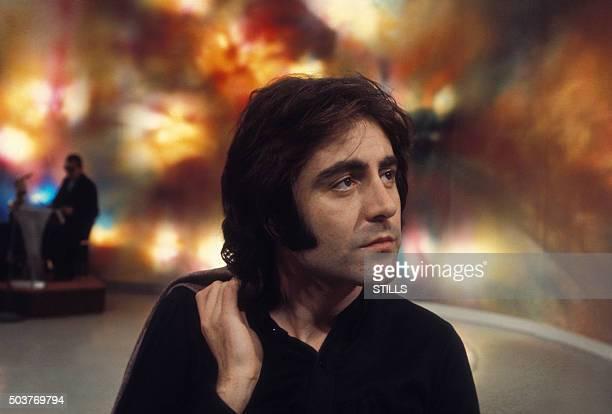 Le chanteur Michel Delpech à Paris France circa 1970