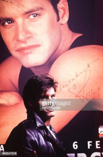 Le chanteur Roch Voisine le 13 janvier 1992 à Montréal Canada