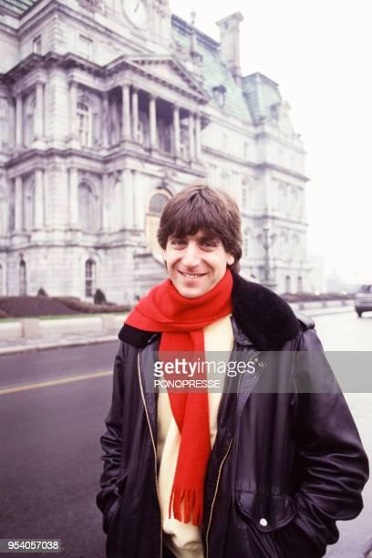 Le chanteur Yves Duteil en novembre 1986 à Montréal Canada