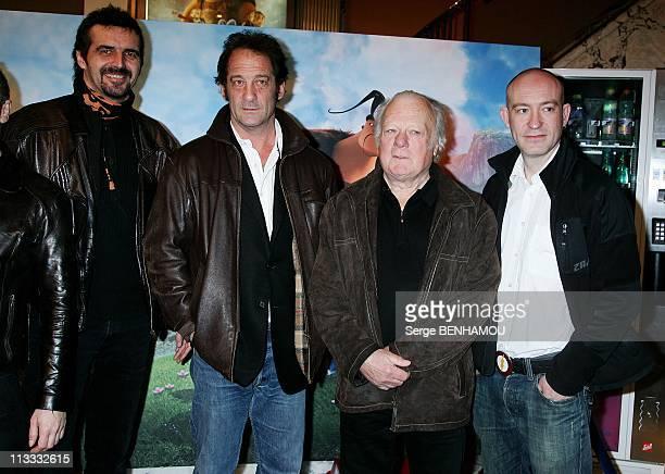 'Le Chasseur De Dragons' Premiere In Paris France On March 16 2008 Arthur Qwak Vincent Lindon Philippe Nahon Guillaume Ivernel