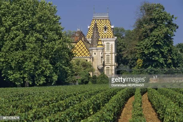 Le chateau de CortonAndre a AloxeCorton vignoble de la cote de Beaune Coted'Or France Europe Le chateau de Corton Andre est un chateau du XIXe siecle...