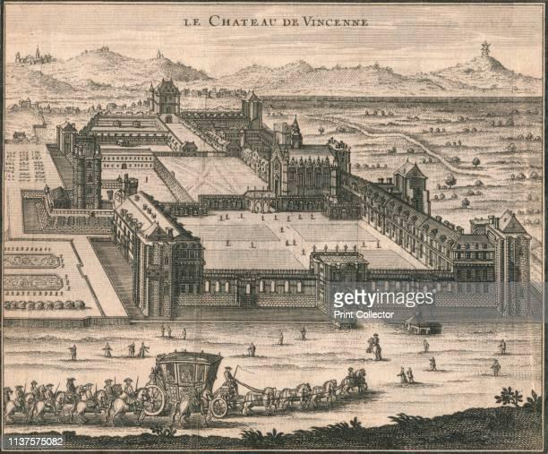 Le Chateau De Vincenne', 1723. Aerial view of the Château de Vincennes, a royal fortress in the town of Vincennes, east of Paris. It began as a...