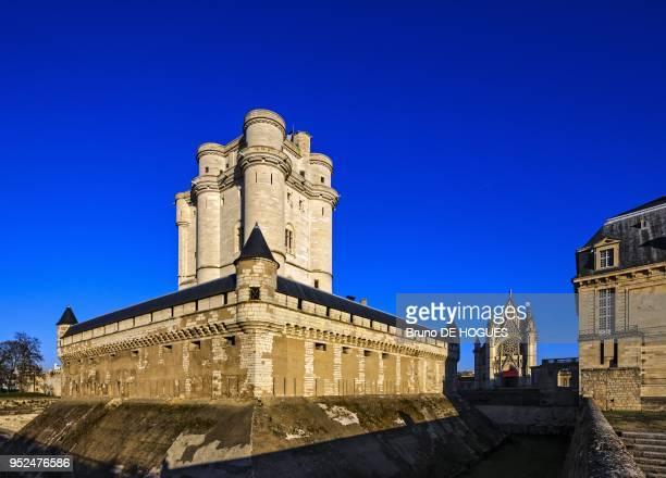 Le Chateau de Vincennes construit au XIVe siecle et la Chapelle Royale le 10 Decembre 2013, Paris, France.