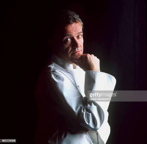 Le chef cuisinier français Alain Passard à Paris le 28 janvier 2000 France