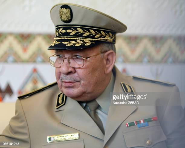 Le chef d'état major algérien Ahmed Gaid Salah le 20 mai 2014 à Alger Algérie