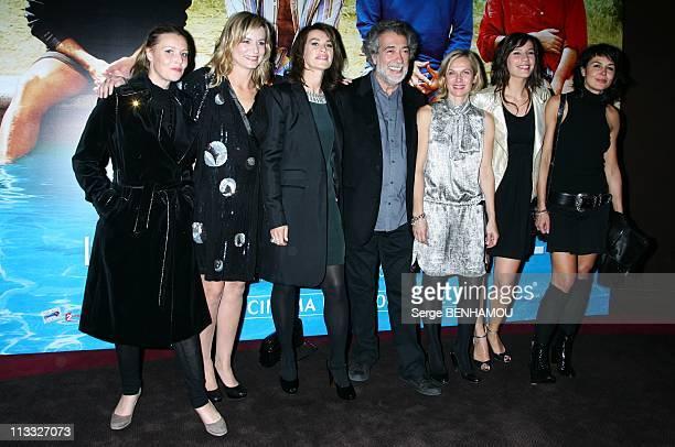 'Le Coeur Des Hommes 2' Premiere At The Gaumont Marignan In Paris France On October 15 2007 Florence Thomassin Fabienne Babe Valerie Kapriski Marc...