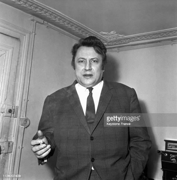Le comédien Raymond Devos, à Paris, France, le 6 juin 1968.