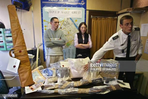Le commissaire de police Philippe Huetz , commandant du Service de l'accueil, de la recherche et de l'investigation judiciaires présente, le 07...