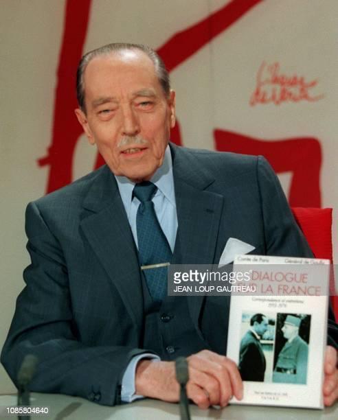 Le Comte de Paris Henri d'Orléans présente son livre 'Dialogue sur la France' recueil de propos échangés avec le général De Gaulle avant le début de...
