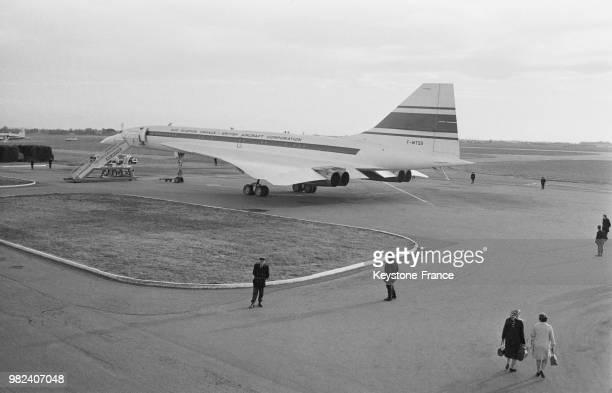 Le Concorde lors de son premier vol test à l'aéroport de Toulouse Blagnac en France le 2 mars 1969