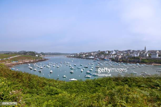 le conquet in brittany - gwengoat stock pictures, royalty-free photos & images