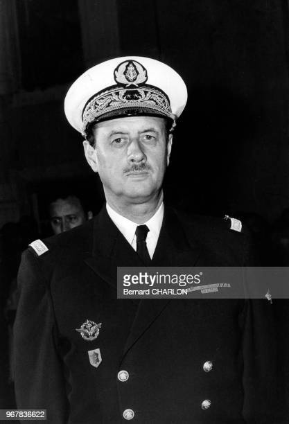 Le contreamiral Philippe de Gaulle le 18 juin 1972 en France