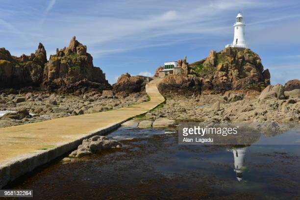 Le Corbiere lighthouse, Jersey, U.K.