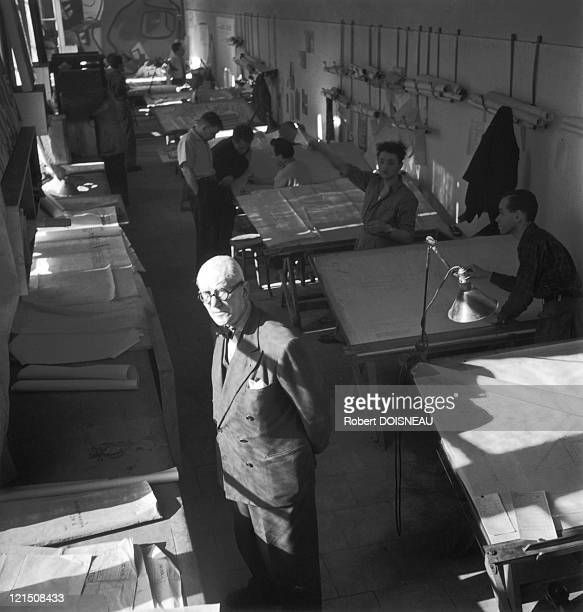 Le Corbusier A FrenchSwiss Architect In His Atelier On Sevres Street