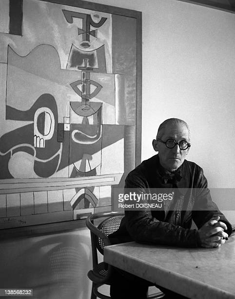 Le Corbusier seen in 1945 in Paris France CharlesEdouard JeanneretGris born October 6 1887 in La ChauxdeFonds in the canton of Neuchatel and died...