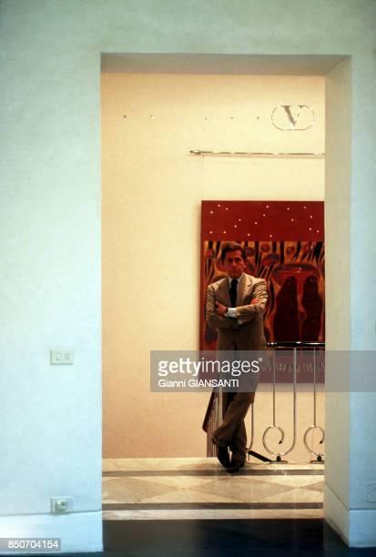 Le couturier italien Valentino Garavani à Rome le 29 septembre 2000 Italie