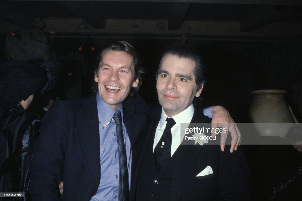 Karl Lagerfeld fte Le 3e Anniversaire d Palace n 1981 : News Photo