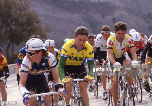 Le cycliste irlandais Sean Kelly pendant le Tour de France en 1987