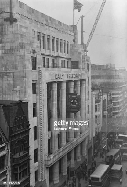 Le 'Daily Telegraph' dans Fleet Street à Londres en Angleterre au RoyaumeUni en 1936