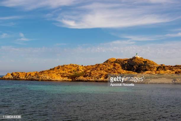 île de la pietra, corsica - lighthouse reef stock pictures, royalty-free photos & images